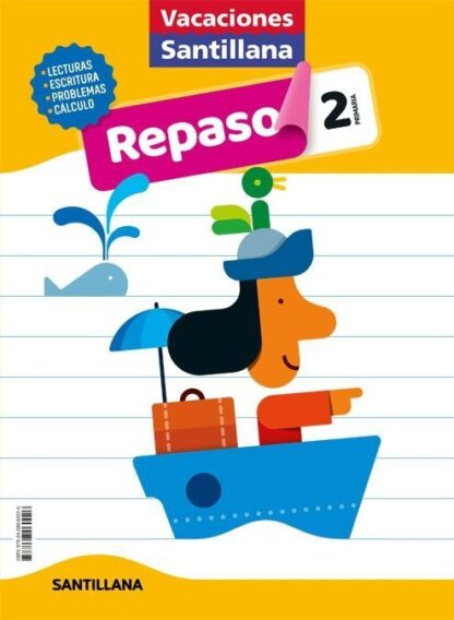 Portada (20).VACACIONES DE REPASO 2º PRIMARIA - AA.VV - ALFAGUARA