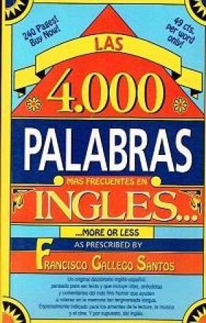 Portada 4000 MIL PALABRAS MAS FRECUENTES EN INGLES - FRANCISCO GALLEGO SANTOS -