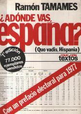 Portada ¿A DONDE VAS ESPAÑA? - RAMON TAMAMES - PLANETA