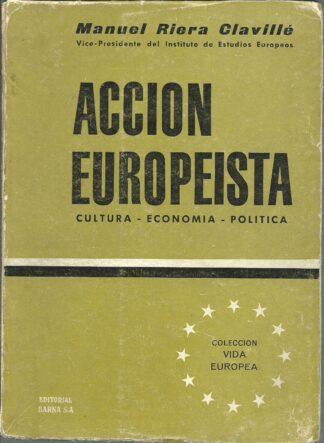 Portada ACCION EUROPEISTA - MANUEL RIERA CLAVILLE - BARNA