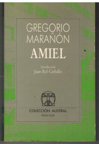 Portada AMIEL - GREGORIO MARAÑON - ESPASA CALPE