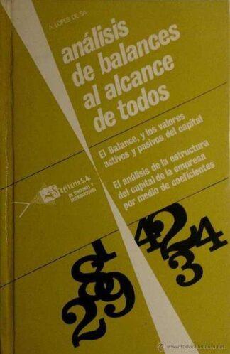 Portada  ANALISIS DE BALANCES AL ALCANCE DE TODOS  - A LOPEZ DE SA - SAGITARIO