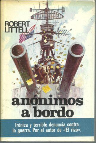 Portada ANONIMOS A BORDO - ROBERT LITTELL - PLAZA Y JANES