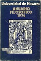 Portada ANUARIO FILOSOFICO 1974  VOLUMEN VII - FACULTAD DE FILOSOFIA Y LETRAS  - UNIVERSIDAD DE NAVARRA