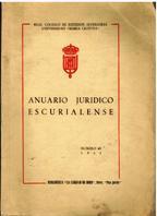 Portada ANUARIO JURIDICO ESCURIALENSE NUMERO III - VARIOS AUTORES - BIBLIOTECA LA CIUDAD DE DIOS