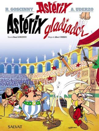 Portada ASTÉRIX GLADIADOR - RENÉ GOSCINNY - BRUÑO