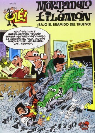 Portada ¡BAJO EL BRAMIDO DEL TRUENO! (OLÉ! MORTADELO 176) - FRANCISCO IBÁÑEZ - EDICIONES B
