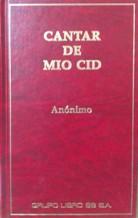 Portada CANTAR DE MIO CID - ANONIMO - GRUPO LIBRO 88