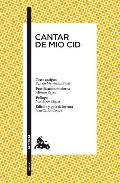 Portada CANTAR DEL MIO CID - ANONIMO - ESPASA CALPE