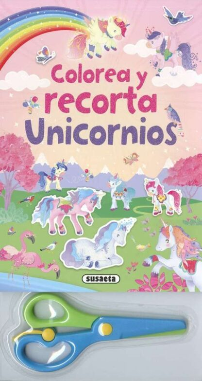 Portada COLOREA Y RECORTA UNICORNIOS - SUSAETA, EQUIPO - SUSAETA