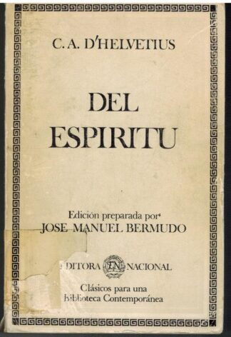 Portada DEL ESPIRITU - CLAUDE-ADRIEN HELVETIUS - EDITORA NACIONAL