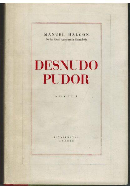 Portada DESNUDO PUDOR - MANUEL HALCON - RIVADENEYRA
