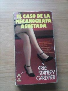 Portada EL CASO DE MECANOGRAFA ASUSTADA - ERLE STANLEY GARDNER - PLAZA Y JANES