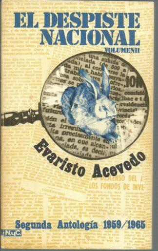 Portada EL DESPISTE NACIONAL. VOLUMEN II - EVARISTO ACEVEDO - MAGISTERIO