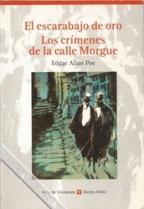 Portada EL ESCARABAJO DE ORO. LOS CRIMENES DE LA CALLE MORGUE - EDGAR ALLAN POE - VICENS VIVES