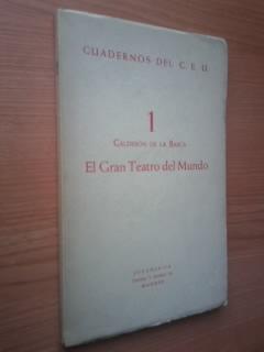 Portada EL GRAN TEATRO DEL MUNDO  - CALDERON DE LA BARCA - EUROAMERICA