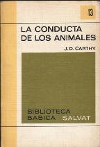 Portada LA CONDUCTA DE LOS ANIMALES - J.D. CARTHY - SALVAT