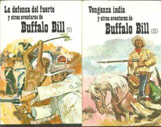 Portada LA DEFENSA DEL FUERTE  Y OTRAS AVENTURAS DE BUFFALO BILL. TOMO I Y II - ANONIMO - RAMON SOPENA