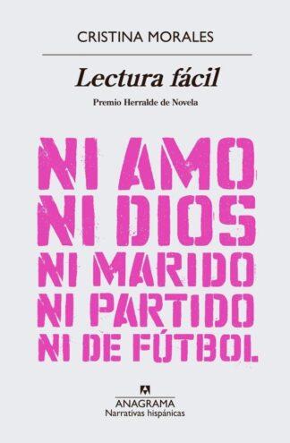 Portada LECTURA FACIL - MORALES CRISTINA - ANAGRAMA