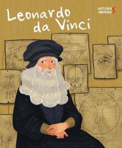 Portada LEONARDO DA VINCI. HISTORIAS GENIALES (VVKIDS) - J. KENT - VICENS VIVES