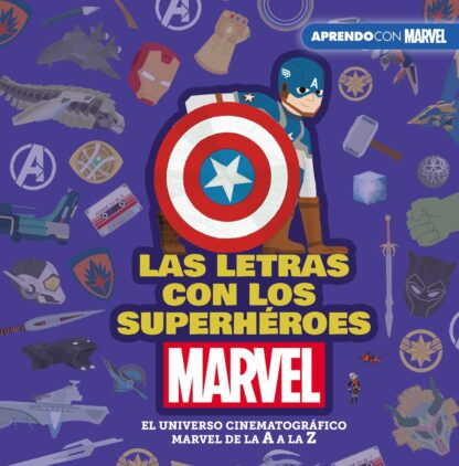 Portada LETRAS CON LOS SUPERHEROES, LAS.(MARVEL) - VV.AA. -