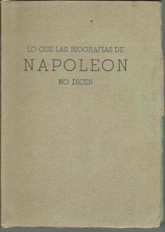 Portada LO QUE LAS BIOGRAFIAS DE NAPOLEON NO DICEN - MONS GUILLERMO TOWER - PIA SOCIEDAD DE SAN PABLO