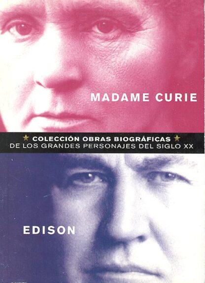 Portada MADAME CURIE  EDISON - JOSE MANUEL ALONSO / RICARDO PARIS - CLUB INTERNACIONAL DEL LIBRO