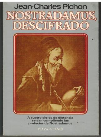 Portada NOSTRADAMUS DESCIFRADO - JEAN CHARLES PICHON - PLAZA Y JANES
