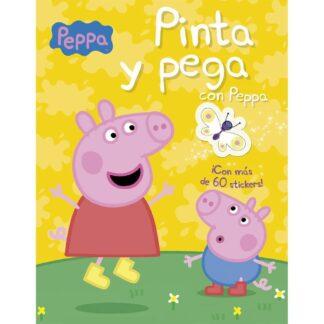 Portada PINTA Y PEGA CON PEPPA - AA.VV - CIRCULO DE LECTORES