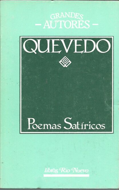 Portada POEMAS SATIRICAS - QUEVEDO - LIBROS RIO NUEVO