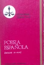 Portada POESIA ESPAÑOLA SIGLOS XI-XVII - VARIOS AUTORES - LIBRA