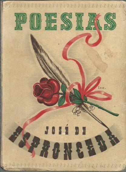 Portada POESIAS - JOSE DE ESPRONCEDA - FAMA