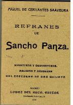 Portada REFRANES DE SANCHO PANZA - MIGUEL DE CERVANTES SAAVEDRA - MAXTOR