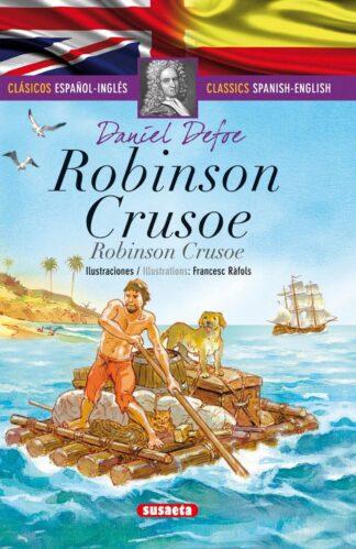 Portada ROBINSON CRUSOE (ESPAÑOL/INGLÉS) - DANIEL DEFOE - SUSAETA