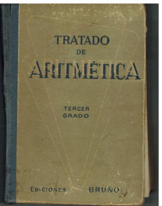 Portada TRATADO DE ARITMETICA - - - BRUÑO