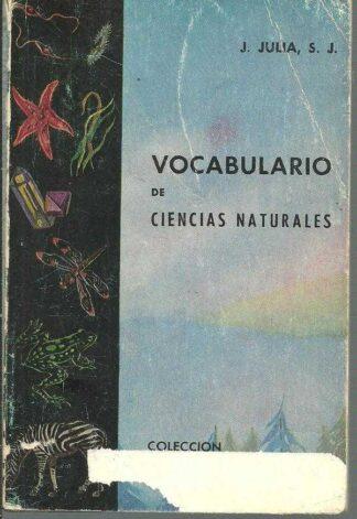 Portada VOCABULARIO DE CIENCIAS NATURALES - J JULIA S J - JOVER