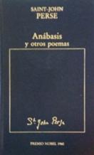 Portada ANABASIS Y OTROS POEMAS - SAINT-JOHN PERSE - ORBIS