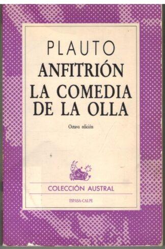 Portada ANFITRION  LA COMEDIA DE LA OLLA - PLAUTO - ESPASA CALPE