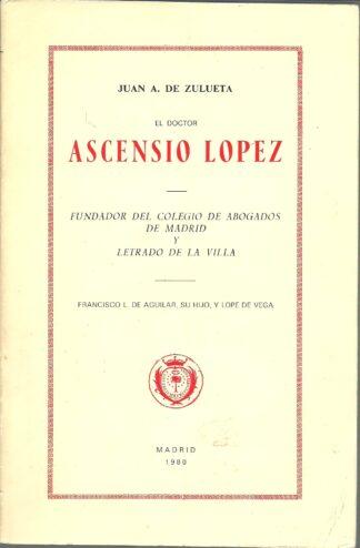 Portada ASCENSIO LOPEZ - JUAN A DE ZULETA -