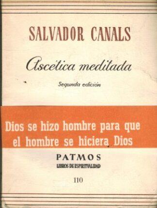 Portada ASCETICA MEDITADA - SALVADOR CANALS - PATMOS