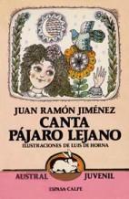 Portada CANTA PAJARO LEJANO - JUAN RAMON JIMENEZ - ESPASA CALPE