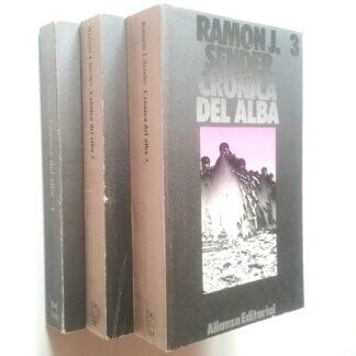 Portada CRÓNICA DEL ALBA 1 / 2 / 3 - RAMÓN J. SENDER - ALIANZA