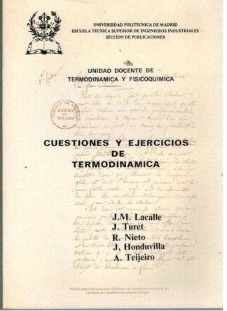 Portada CUESTIONES Y EJERCICIOS DE TERMODINAMICA - VVAA - UNIVERSIDAD POLITECNICA DE MADRID