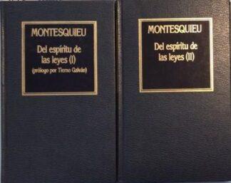 Portada DEL ESPIRITU DE LAS LEYES TOMO I / II - MONTESQUIEU - ORBIS