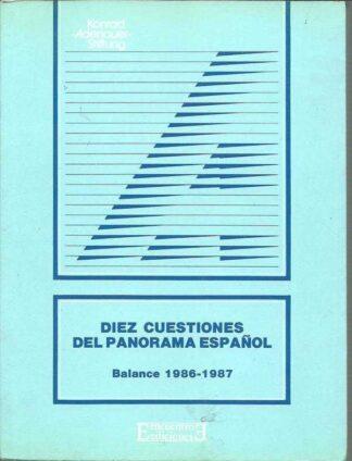 Portada DIEZ CUESTIONES DEL PANORAMA ESPAÑOL. BALANCE 1986 - KONRAD ADENAUER STIFTUNG - ENCUENTRO
