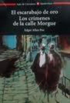 Portada EL ESCARABAJO DE ORO / LOS CRIMENES DE LA CALLE MORGUE - EDGAR ALLAN POE - VICENS VIVES