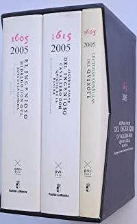 Portada EL INGENIOSO HIDALGO DON QUIJOTE DE LA MANCHA 1605 - 2005. 3 TOMOS - MIGUEL DE CERVANTES SAAVEDRA - EMPRESA PUBLICA DON QUIJOTE 2005