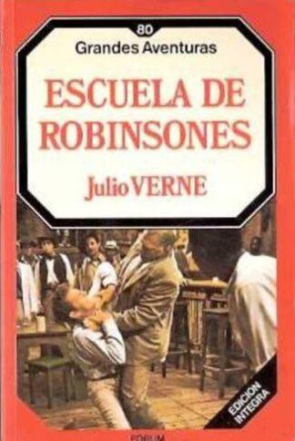 Portada ESCUELA DE ROBINSONES - JULIO VERNE - ORBIS