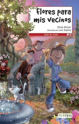 Portada FLORES PARA MIS VECINOS - ELENA DRESER - EVEREST