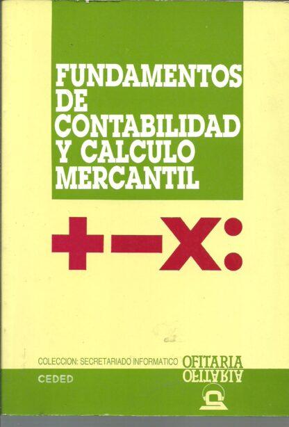 Portada FUNDAMENTO DE CONTABILIDAD Y CALCULO MERCANTIL - ANONIMO - EDITEX